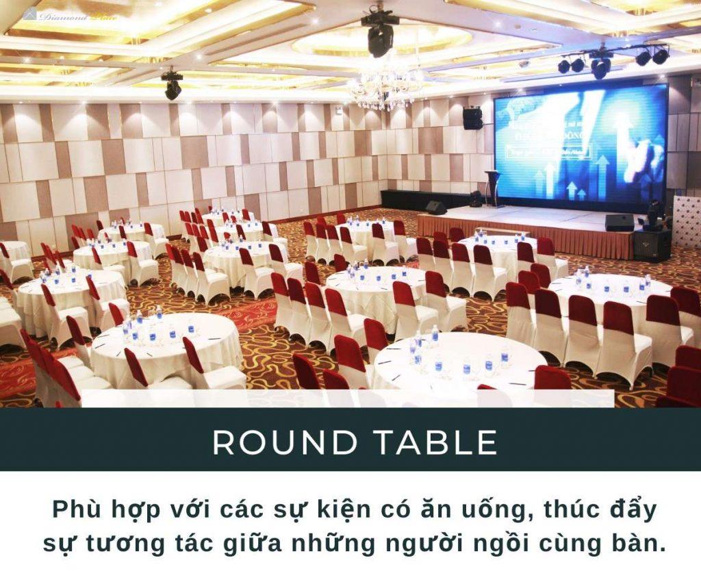Sảnh sự kiện kiểu rạp hát - Round Table